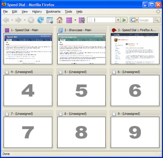 Speed Dial main window